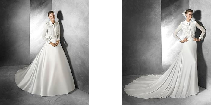 Di Con Gli Pronovias La Abiti Da Camicia Sposa E29HYWDI