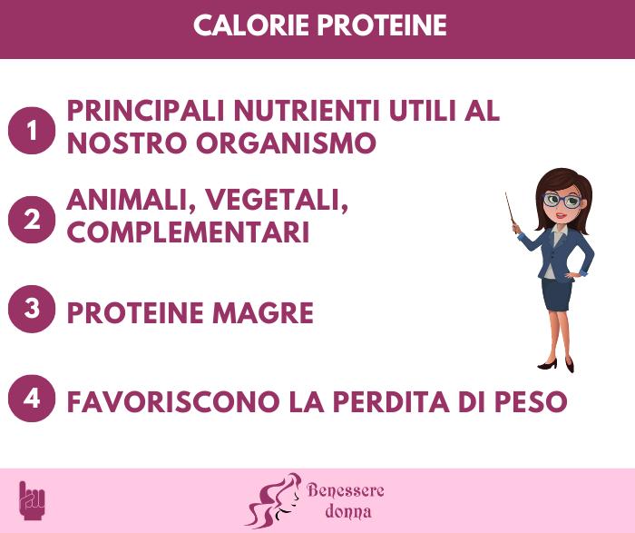 Calorie proteine