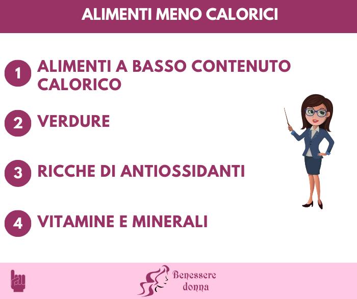 Alimenti meno calorici